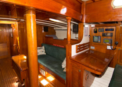 Main Saloon Starboard and Nav Station