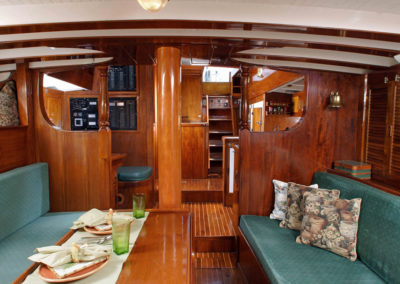 Main Saloon looking aft